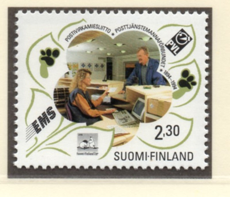 Finland Scott  936 1993 Postal Workers stamp mint NH