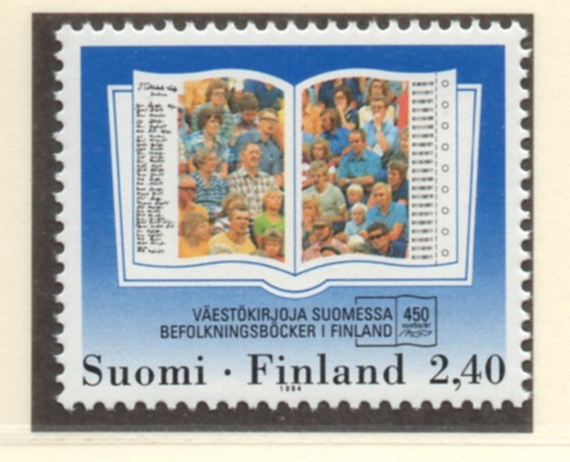 Finland Scott  944 1994  Population Registers stamp mint NH