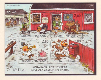 Finland Scott 946 1994 Letter Writing Day stamp souvenir sheet mint NH