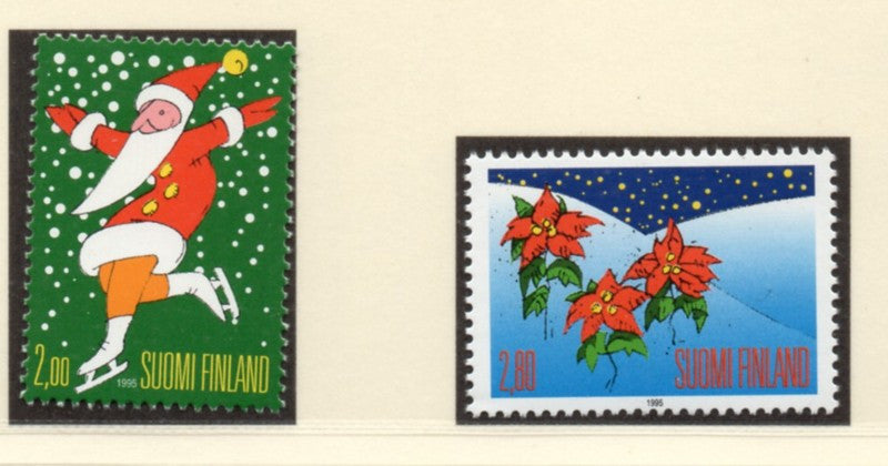 Finland Scott  979-80 1995 Christmas stamp set mint NH
