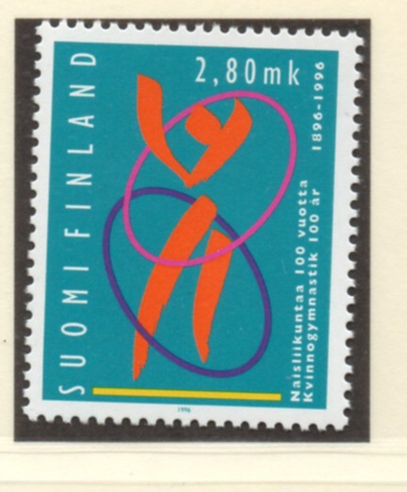 Finland Scott  994 1996 Women's Gymnastics stamp  mint NH