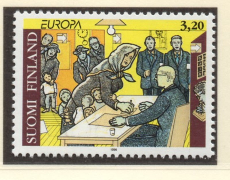 Finland Scott  995 1996 Europa stamp  mint NH