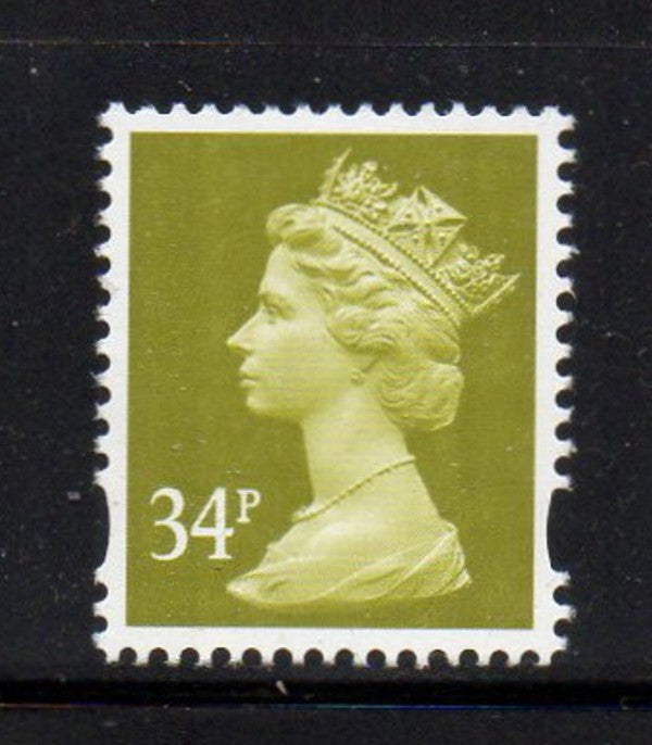 Great Britain  Scott  MH261A 2003 34p ol grn QE II Machin head stamp mint NH