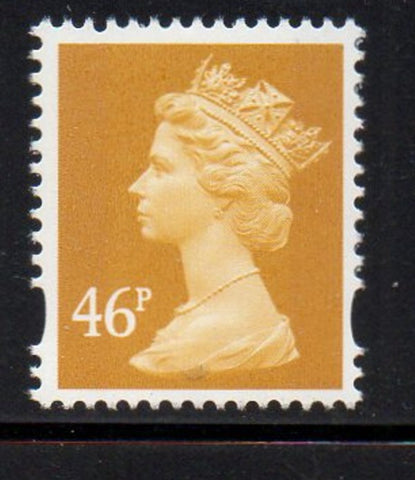 Great Britain  Scott  MH361 2005 46p dark olive bistre Machin head stamp mint NH