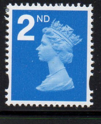 "Great Britain  Scott  MH375 2006""2nd"" bright blue Machin head stamp mint NH"