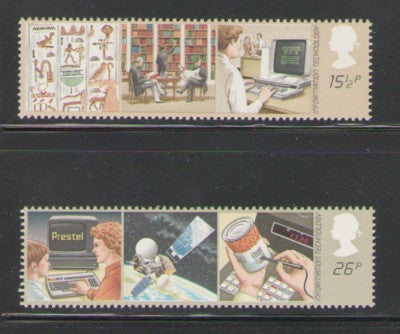 Great Britain Scott  1000-1 1982 Information Technology stamp set mint NH