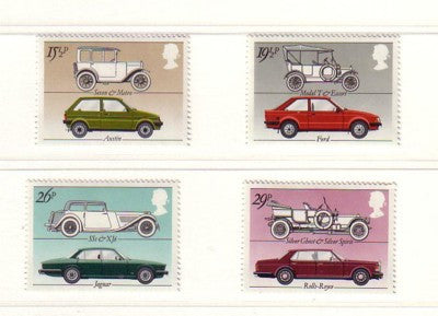 Great Britain Scott  1002-5 1982 Cars stamp set mint NH
