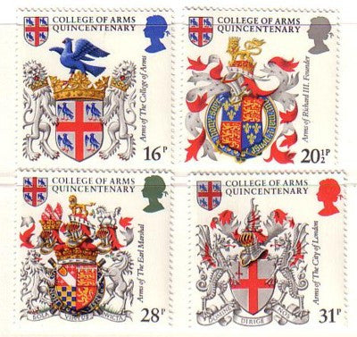 Great Britain Scott  1040-3 1984 Heraldry stamp set mint NH