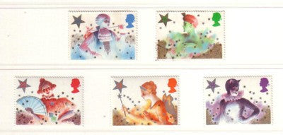 Great Britain Scott  1124-28 1985 Christmas stamp set mint NH