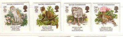 Great Britain Scott  1141-4 1986  Europa nature Conservation stamp set mint NH