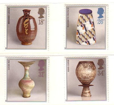 Great Britain Scott  1192-95 1987 Studio Pottery stamp set mint NH
