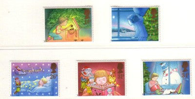 Great Britain Scott  1196-1200 1987 Christmas stamp set mint NH