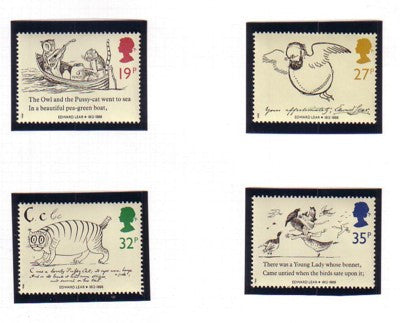 Great Britain Scott  1226-9 1988 Lear Drawings stamp set mint NH