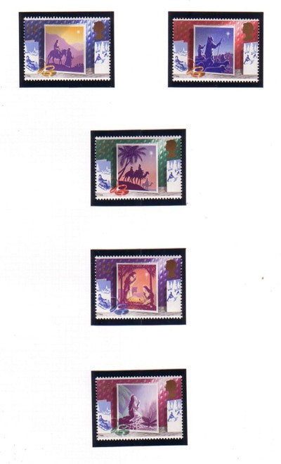 Great Britain Scott  1234-8 1988 Christmas stamp set mint NH