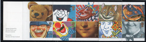"Great Britain  Scott  1373a 1991 ""1st"" Smiles stamp booklet pane mint NH"