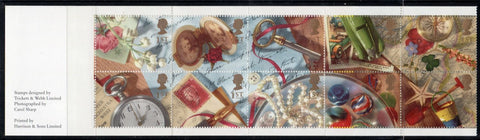 Great Britain  Scott  1435a 1992 Greetings stamp booklet pane mint NH