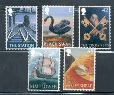 Great Britain Scott  2148-52 2003  Pub Signs stamp set mint NH