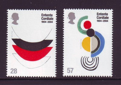 Great Britain Scott  2200-1 2004 Entente Cordiale stamp set mint NH