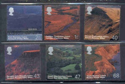 Great Britain Scott  2215-20  2004 Wales Scenery stamp set mint NH