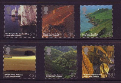 Great Britain Scott  2261-66  2005 SW Engleand Scenery stamp set mint NH