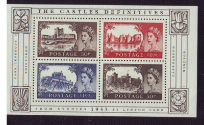 Great Britain Scott  2278 2005 Castles stamp sheet mint NH