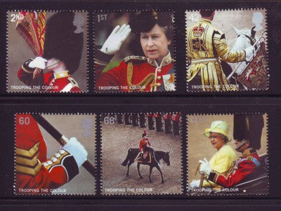 Great Britain Scott  2288-93  2005 Trooping the Colours stamp set mint NH