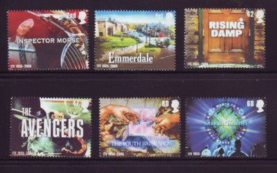 Great Britain Scott  2308-13  2005 Television Shows stamp set mint NH