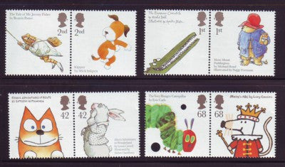Great Britain Scott  2334-41 2006 Animals from Children's Books stamp set mint NH