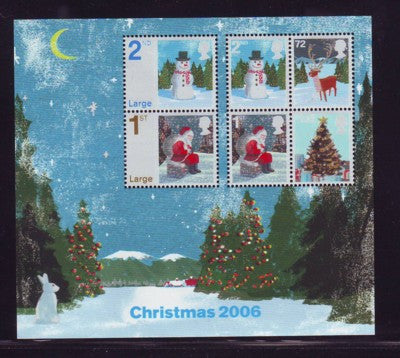 Great Britain Scott  2411 2006 Christmas stamp sheet mint NH