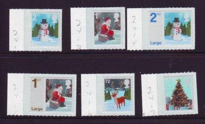 Great Britain Scott  2412-17 2006 Christmas stamp set mint NH
