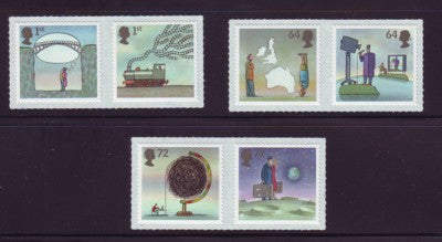 Great Britain Scott  2450-5 2007 World of Invention stamp set mint NH