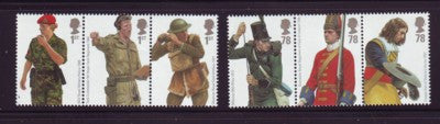 Great Britain Scott  2508-13 2007 Army Uniforms stamp set mint NH