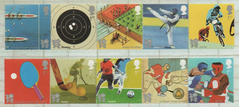 Great Britain  Scott  2815-24 2010 Olympics stamp set mint NH