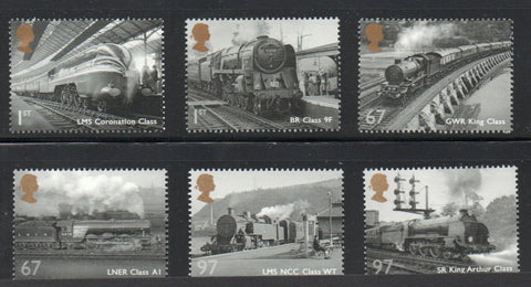Great Britain  Scott  2827-32 2010 Steam engines stamp set mint NH