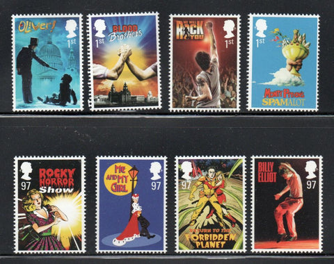 Great Britain  Scott  2867-74 2011 Musicals stamp set mint NH