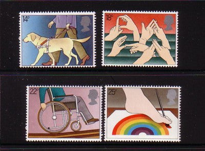 Great Britain Scott  937-40 1981 Disabled stamp set mint NH