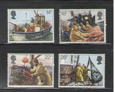 Great Britain Scott  956-59 1981 Fishing Industry stamp set mint NH
