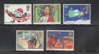 Great Britain Scott  960-64 1981 Christmas stamp set mint NH