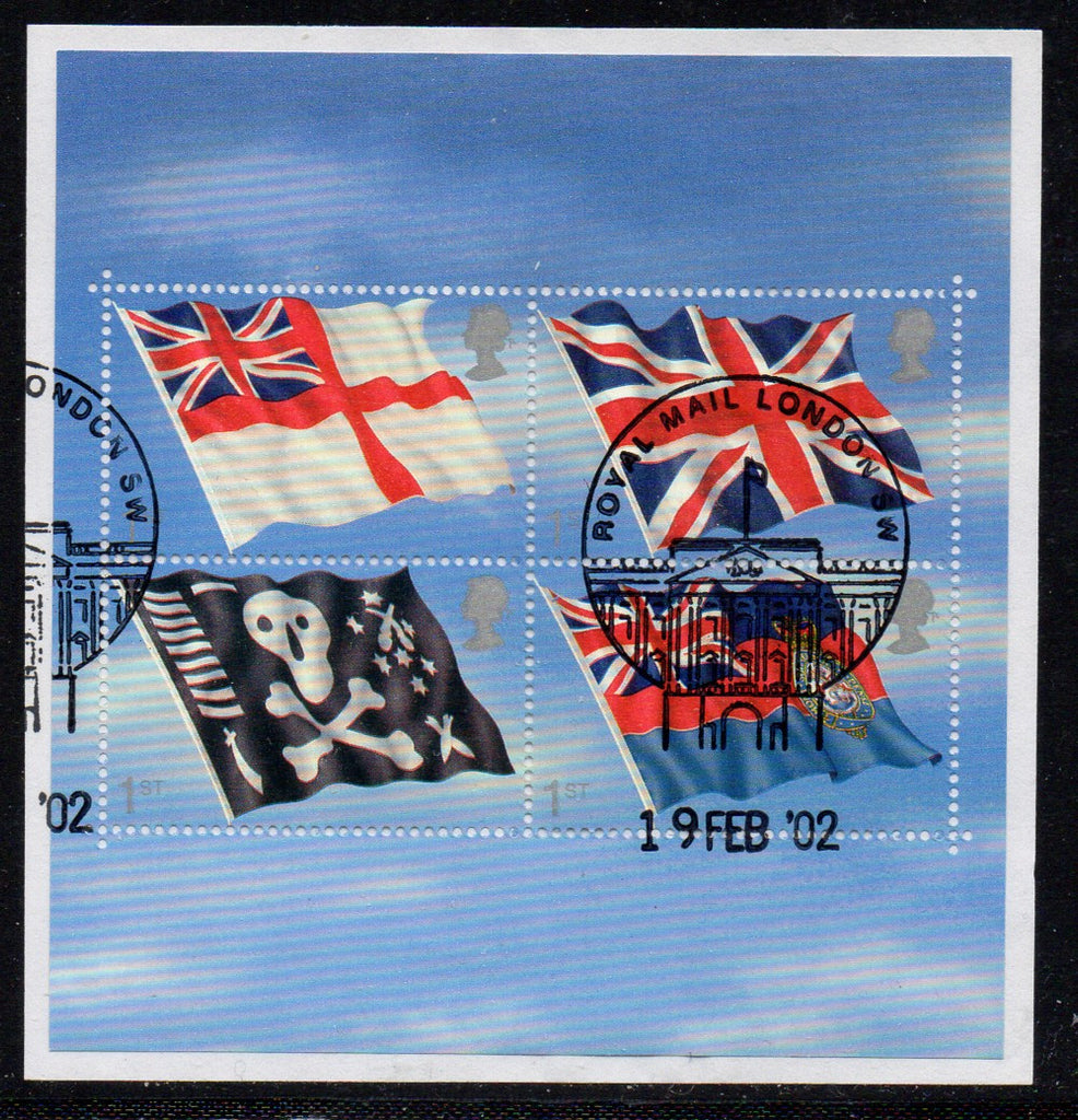 Great Britain Scott  1999 2001 Flags stamp sheet used