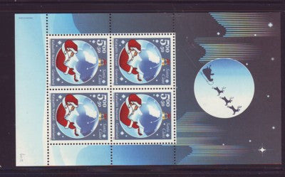 Greenland Scott B28a 2003 Santa Claus stamp souvenir sheet mint NH