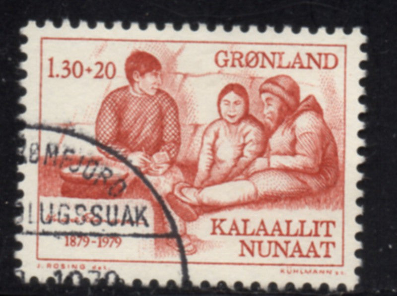 Greenland  Scott  B8 1979 Rasmussen stamp used