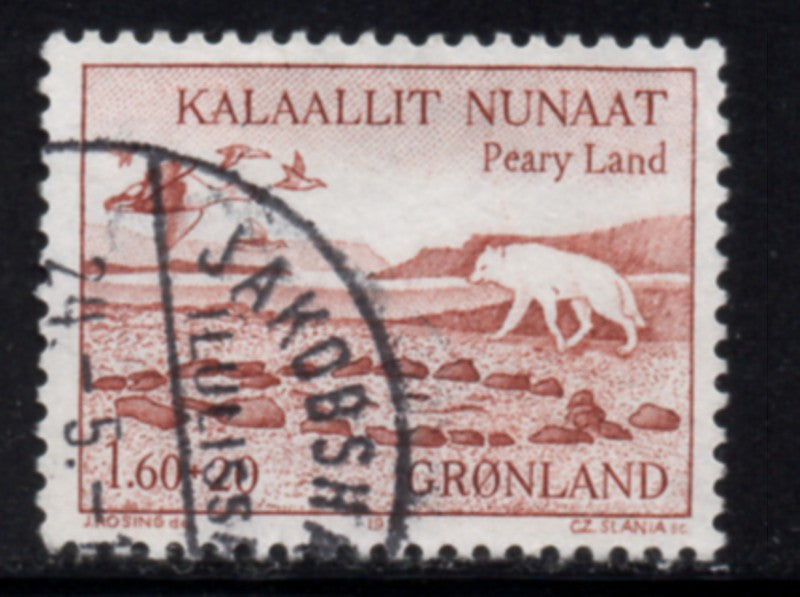 Greenland  Scott  B9 1981 Peary Land stamp used