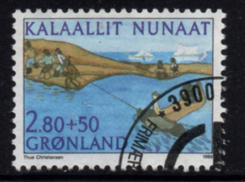 Greenland  Scott  B12 1986 Sports Union stamp used