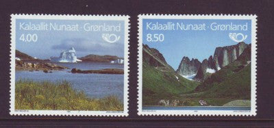 Greenland Scott  240-1 1991 Tourism Iceberg stamp set mint NH