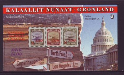 "Greenland Scott 294 1995 ""America"" Capitol Building stamp souvenir sheet mint NH"