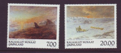 Greenland Scott  349-50 1999 Paintings stamp set mint NH