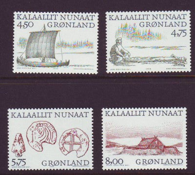 Greenland Scott  351-4 1999 Vikings stamp set mint NH