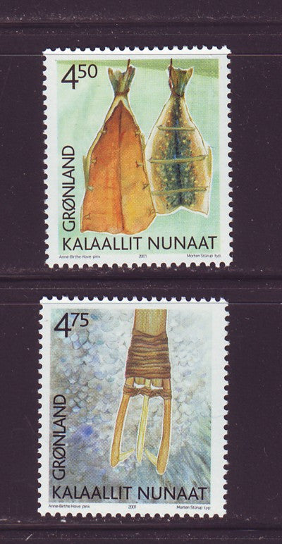 Greenland Scott  384-5 2001 Cultural Heritage stamp set mint NH