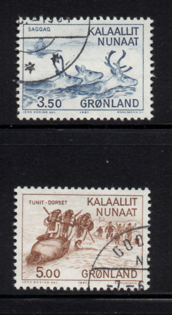 Greenland Scott  146-7 1981 Hunting stamp set used