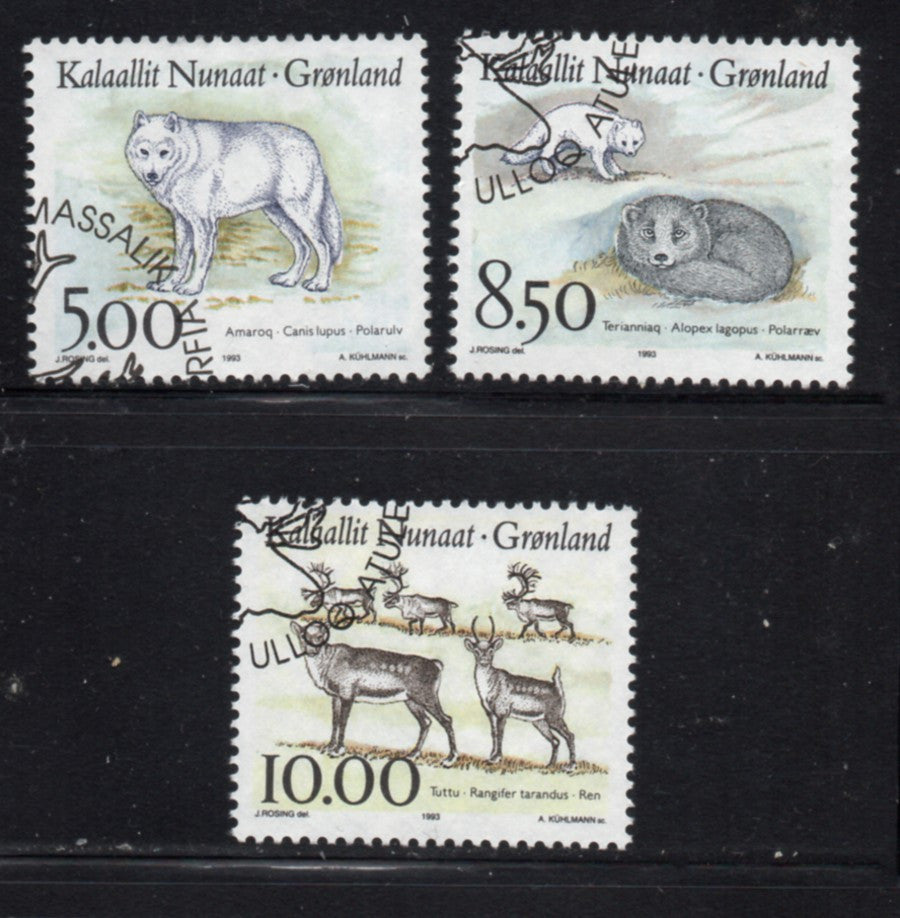Greenland Scott  262-4 1993 Native Animals stamp set used